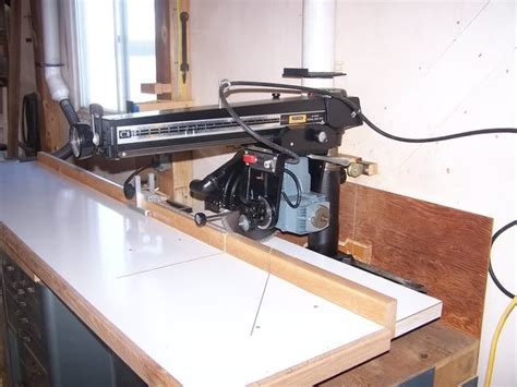 radial arm  fence woodworking radial arm  table
