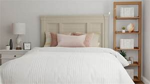 Get, Inspiration, From, Blush, Accents, Modern, Farmhouse, Bedroom, Design, By, Spacejoy