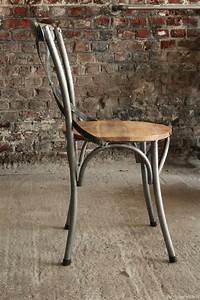 Chaise Bistrot Metal : chaise bistrot industrielle bois et m tal ~ Teatrodelosmanantiales.com Idées de Décoration