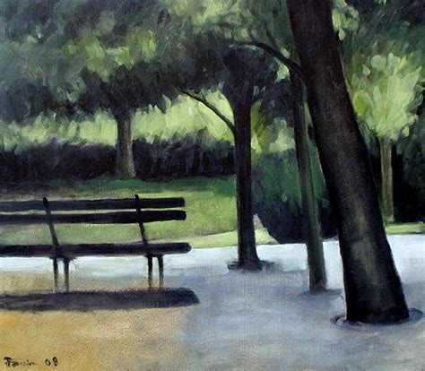 Park Bench Oil Paint By Boias On Deviantart