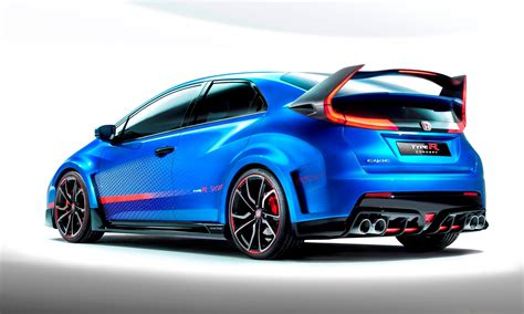 New Honda Civic Type R by 2015 Honda Civic Type R Previewed By Crisp And Clean New