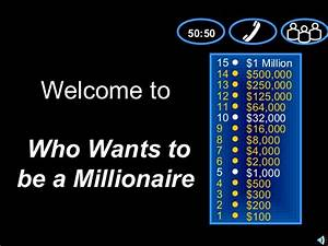 Quiz Show Powerpoint Template Who Wants To Be A Millionaire Template