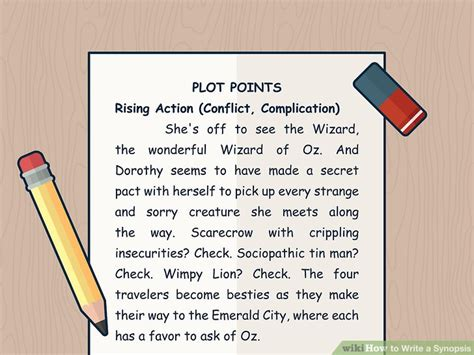 write  synopsis  pictures wikihow