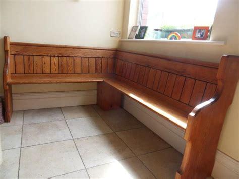 Church Pew Corner Bench For My Built In Kitchen Banquette