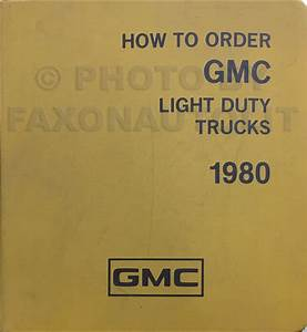 1980 Gmc Chevy Ck Wiring Diagram Original Pickup Suburban