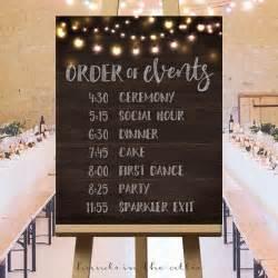 wedding schedule of events printable large wedding signs rustic wedding ideas wedding