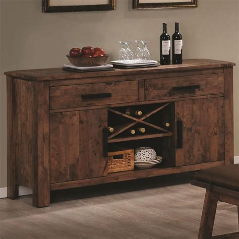 kitchen islands and carts furniture coaster maddox 103475 brown wood buffet table in los