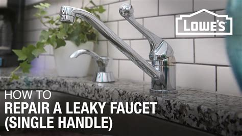 fix  dripping  leaky single handle faucet youtube