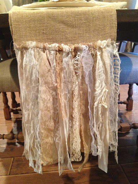 burlap table runner with lace burlap table runner with lace fringe