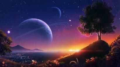 Landscape Planets Space Stars 1080p Fhd Hdtv