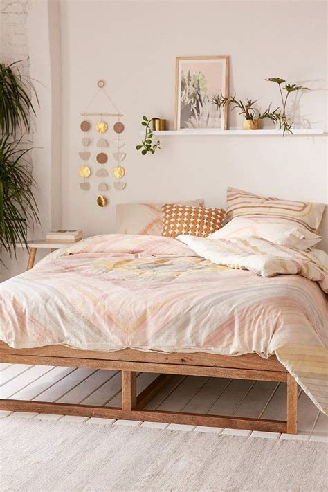 bedroom  pink bedding  urban outfitters home