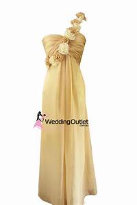 champagne bridesmaid dresses with flowers style e101 With wedding dresses outlet