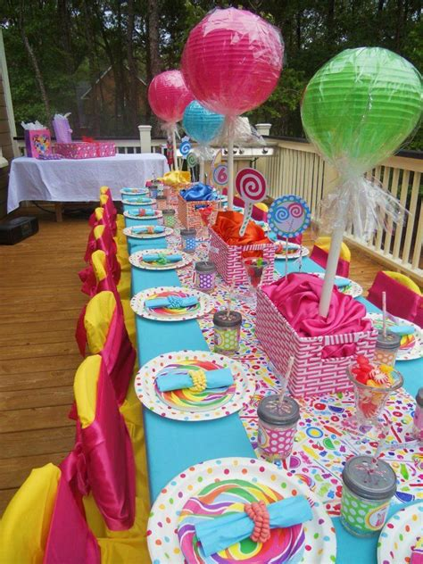 ideas homemade centerpiece for parties my home design homemade candyland party decorations diy sweet candy decor