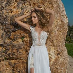 fashion beach wedding dress 2016 sexy deep v see through With sexy beach wedding dress