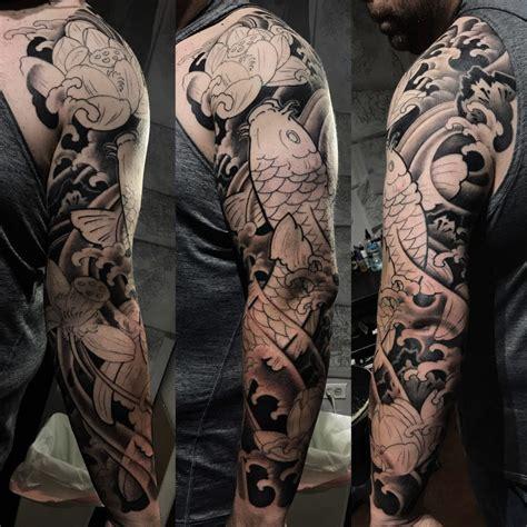 koi japanese tattoo full sleeve  project stay tuned