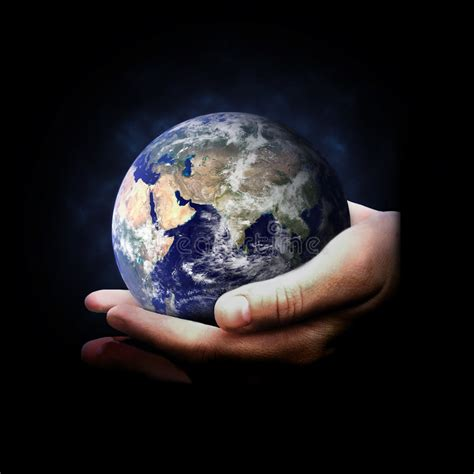 hands holding earth stock image image  holding safety
