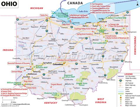 buy reference map  ohio
