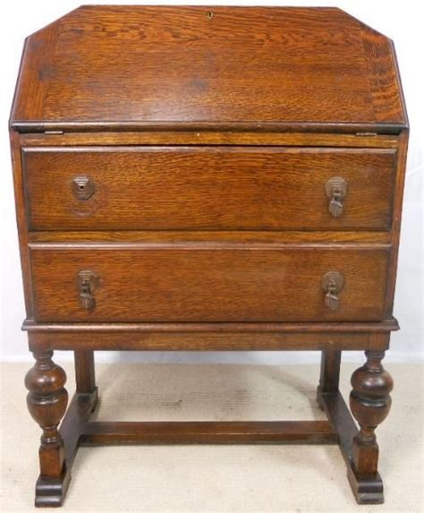 deco oak writing bureau desk 146888 sellingantiques co uk