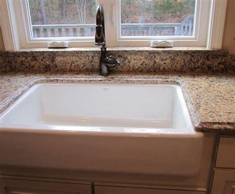 granite faucet to window sill farmer s