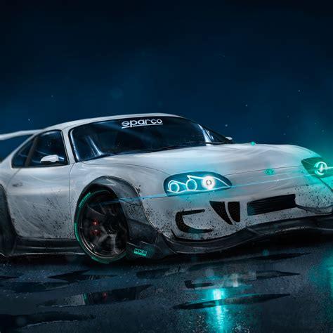 Wallpaper Toyota Supra, Custom, Drift, Neon Lights, Hd, 4k