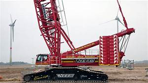 Liebherr  2 Crawler Crane During Wind Turbine
