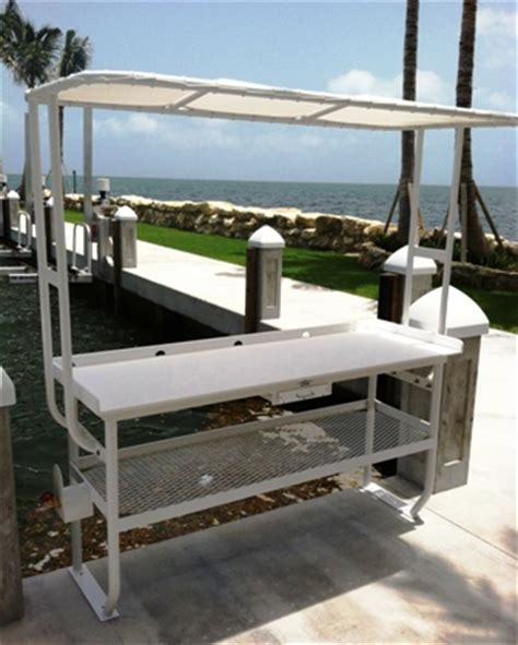 aluminum fish cleaning table fish cleaning table and floatstep dock ladder for stock