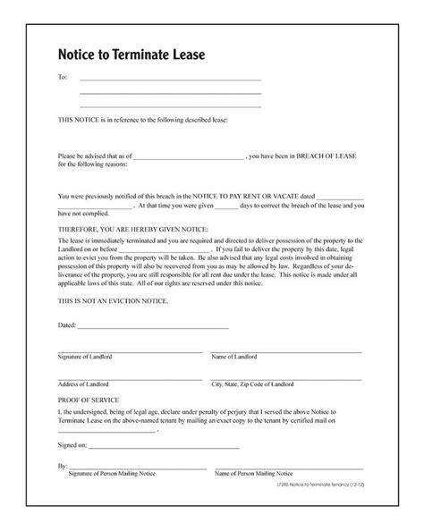 adams notice  terminate tenancy forms  instructions