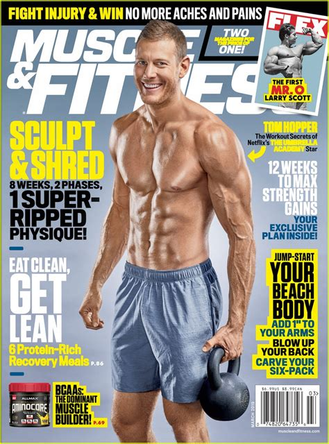 tom hopper bares ripped body  muscle fitness cover