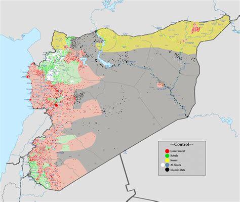 Karte Syrien Krieg