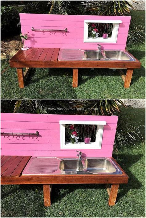 inspirational diy ideas  kids pallet mud kitchens