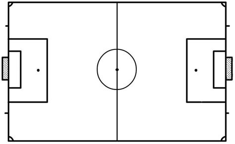soccer field template blank soccer field clipart best