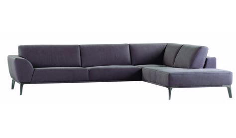 canap 233 d angle en cuir meteore by roche bobois design