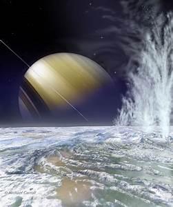 Fountains of Enceladus - Moon of Saturn