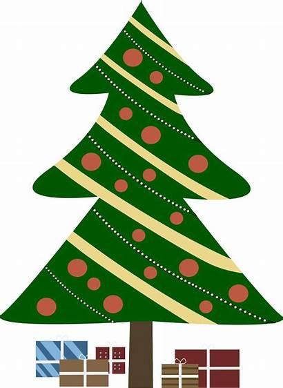 Tree Christmas Clip Clipart Animated Cartoon Xmas