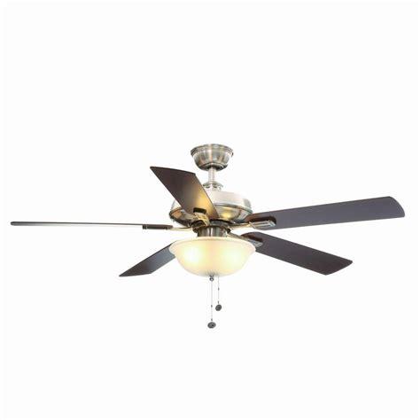 hton bay ceiling fan glass dome hton bay burgess 52 in brushed nickel flushmount