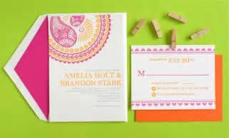 wedding invitation designs indian pattern letterpress wedding invitations