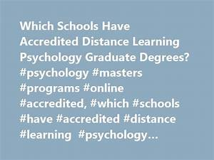 Distance learning psychology