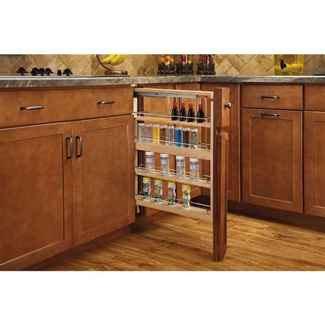 home depot kitchen storage rev a shelf 30 in h x 3 in w x 23 in d pull out between 4265