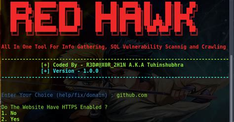 red hawk    tool  information gathering sql