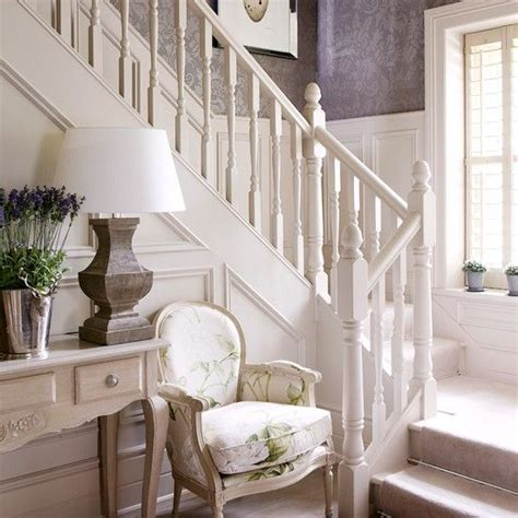 country hallway ideas elegant cream hallway with damask wallpaper pinterest painted stairs purple wallpaper and cream