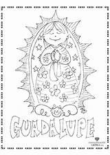 Guadalupe Coloring Lady Pages Catholic Clipart Mary Crafts Children Blessed Mother Activities Sheets Para Virgin Fatima Printable Maria Religious Colouring sketch template