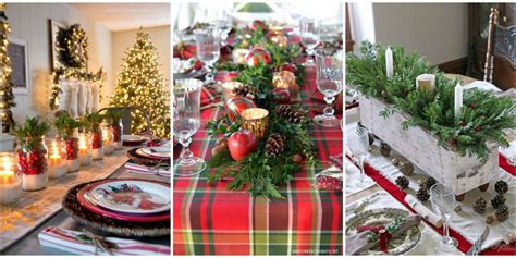cheap christmas table decorations 49 best christmas table settings decorations and