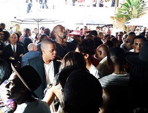 Kanye West, Jay Z and Rihanna at Pre Grammys Roc Nation ...