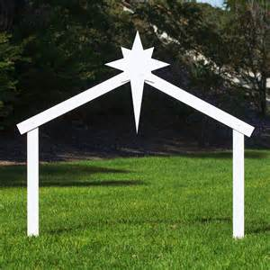 large silhouette outdoor nativity set stable outdoor nativity store