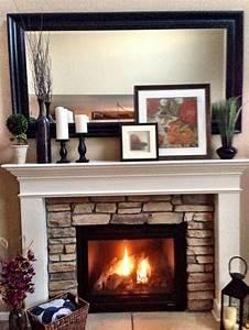 Beautiful, Mantel, Decor, Stone, Fireplace, Mantel