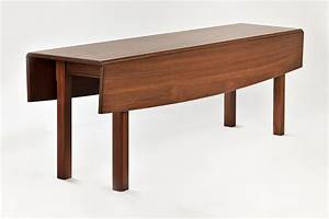 Hand Crafted Walnut Drop Leaf Dining Tabel by Downing Fine