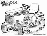 Coloring Pages John Lawn Mower Deere Deer Tractor Printable Garden Boys Template Cartoon sketch template