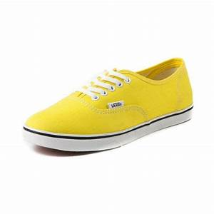 Shop for Vans Authentic Lo Pro Skate Shoe in Yellow White