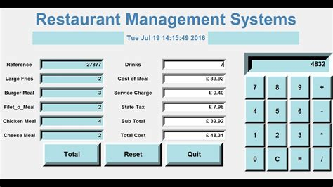 How To Create A Gui Restaurant Management Systems In Python  Full Tutorial Youtube
