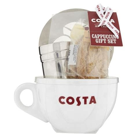 buy costa cappuccino cup gift set from our alcohol free